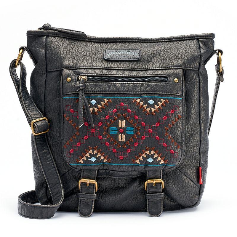 Unionbay Embroidered Tribal Crossbody Bag