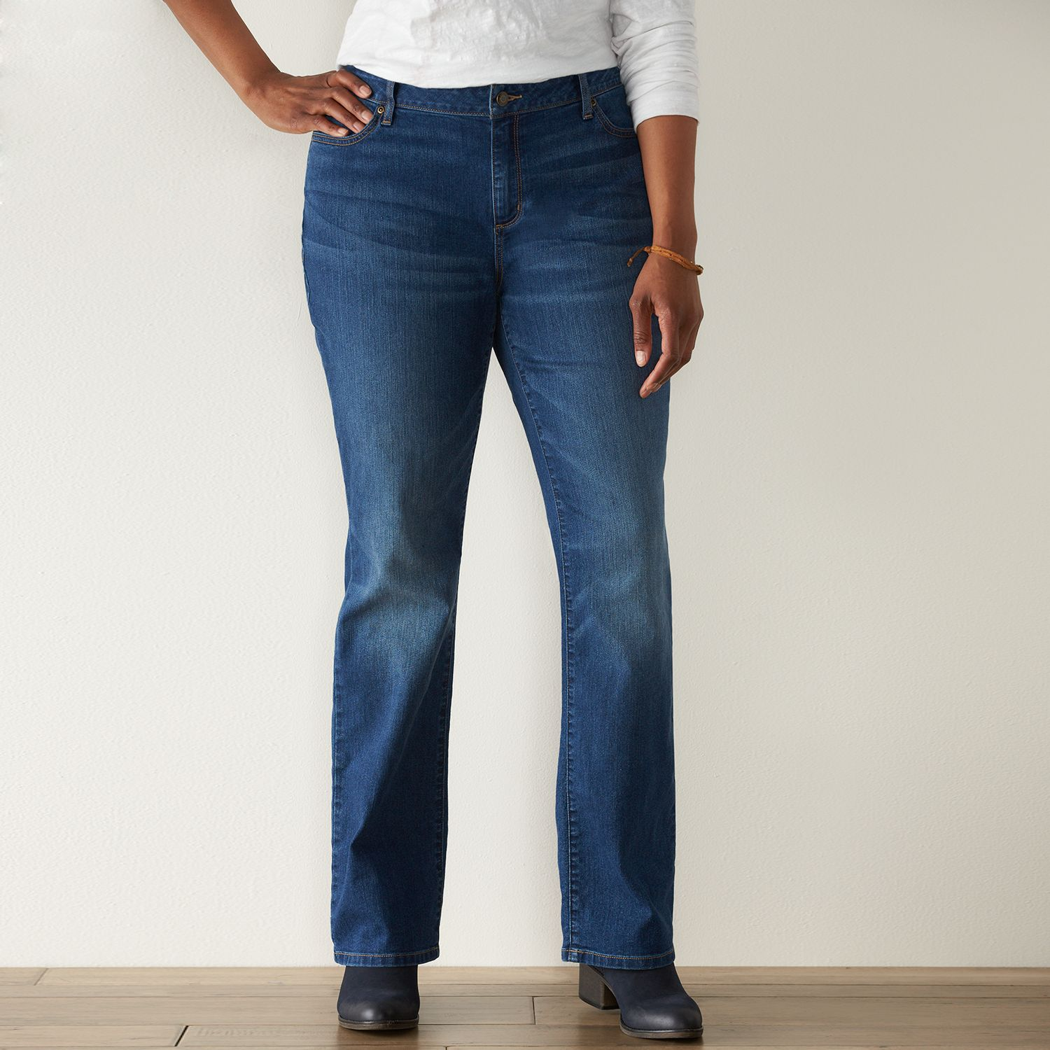 Plus Size SONOMA Goods for Life? Slim Fit Bootcut Jeans