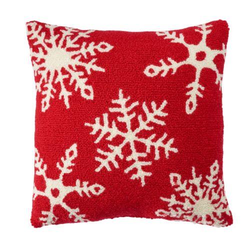 St. Nicholas Square® Snowflake Tufted Throw Pillow