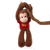 GUND Curious George Take Along Touch & Close Plush Monkey