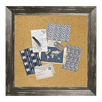 Parisian Home Black Framed Burlap Cork Wall Decor
