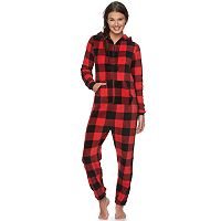 Juniors' SO® Pajamas: Plush Hooded One-Piece Pajamas