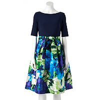 Women's Jessica Howard Floral Taffeta Fit & Flare Dress