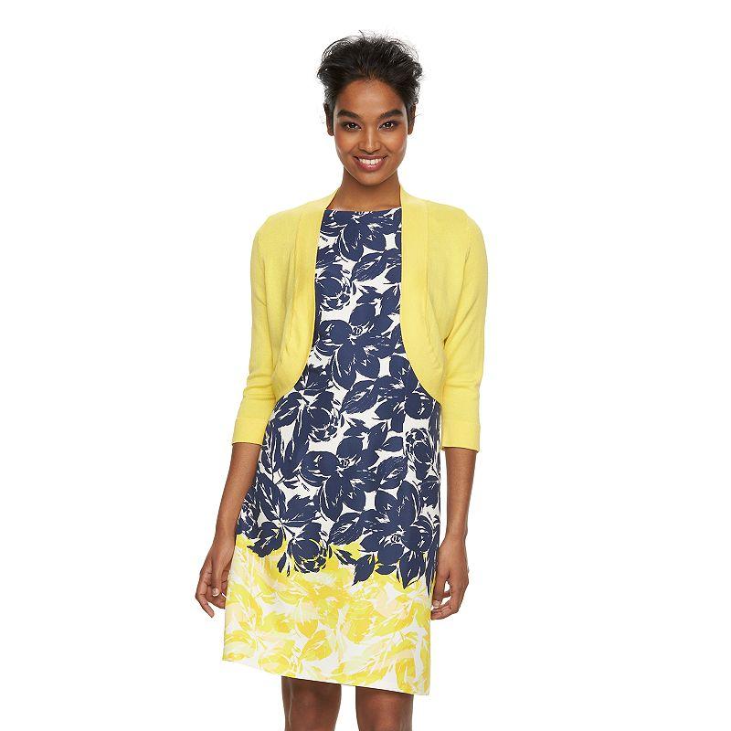 Women's Jessica Howard Shrug & Floral Dress Set