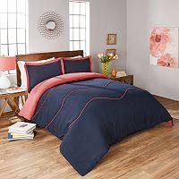 Vue Sapphire 3-piece Reversible Comforter Set
