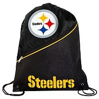 Forever Collectibles Pittsburgh Steelers Zipper Drawstring Backpack