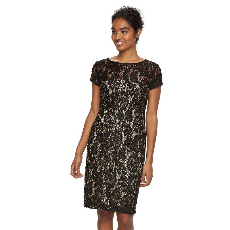Women's Scarlett Sequin Lace Shift Dress