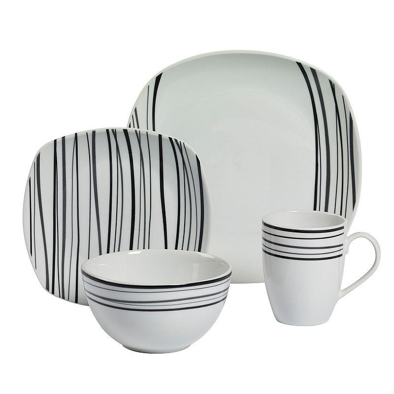 Gallery Justin 16-pc. Soft Square Dinnerware Set