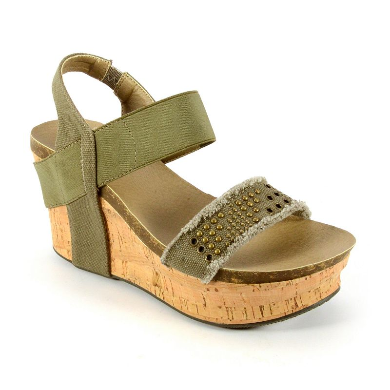 Corkys Frayed Women's Wedge Sandals