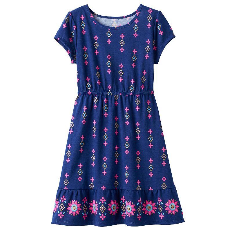 Disney's Elena of Avalor Girls 4-7 Printed Glitter Dress by Jumping Beans®