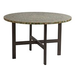INK+IVY Mozart Mosaic Round Dining Table by