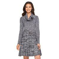 Women's Dana Buchman Cowlneck Fit & Flare Sweaterdress