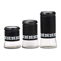 PureLife 3-pc. Glass Canister Set