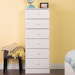 Prepac Astrid 6-Drawer Tall Dresser by