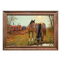 Reflective Art Old Farm Hands Framed Wall Art
