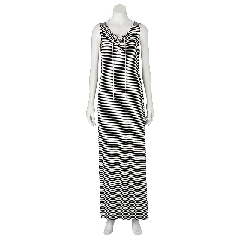 Juniors' About A Girl Lace-Up Maxi Dress