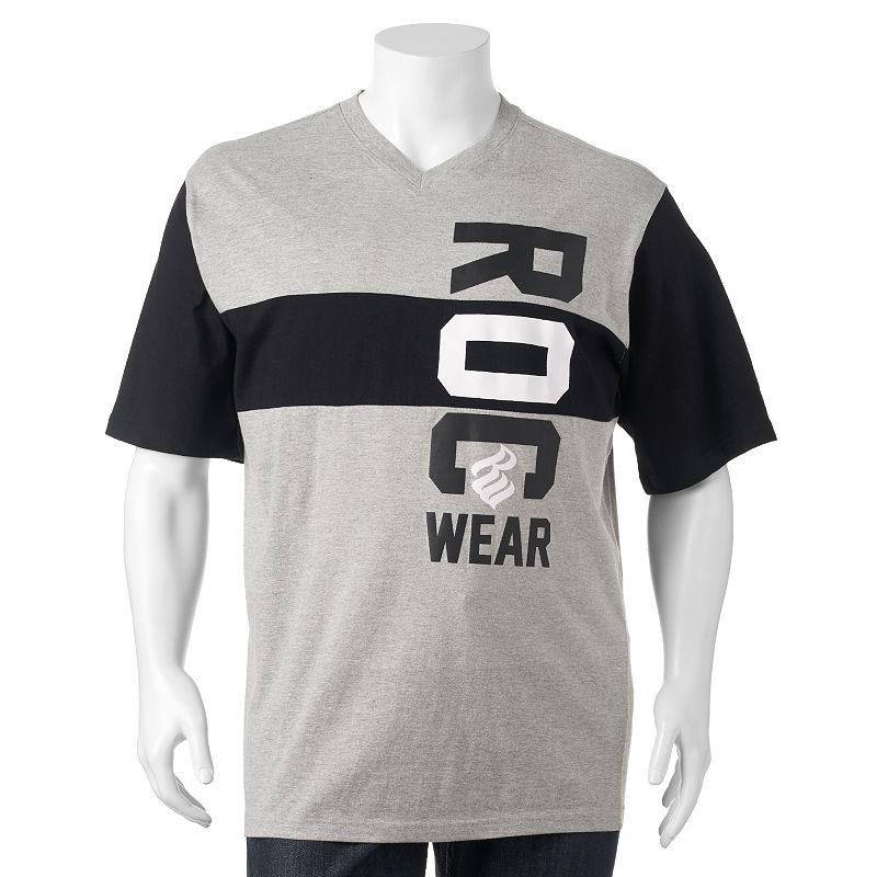 Big & Tall Rocawear Colorblock Logo Tee