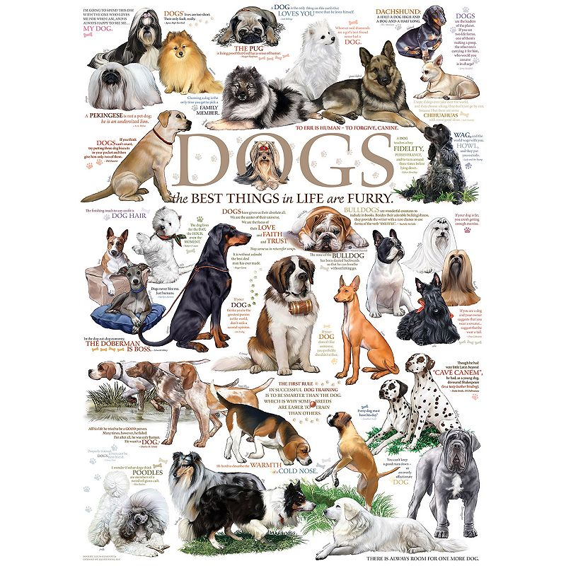 Cobble Hill Dog Quotes 1000-pc. Jigsaw Puzzle