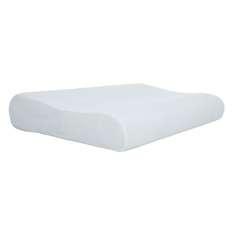 Blue Memory Foam Contour Bedroom Pillow