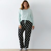 Plus Size SONOMA Goods for Life™ Pajamas: Knit & Microfleece PJ Set with Socks