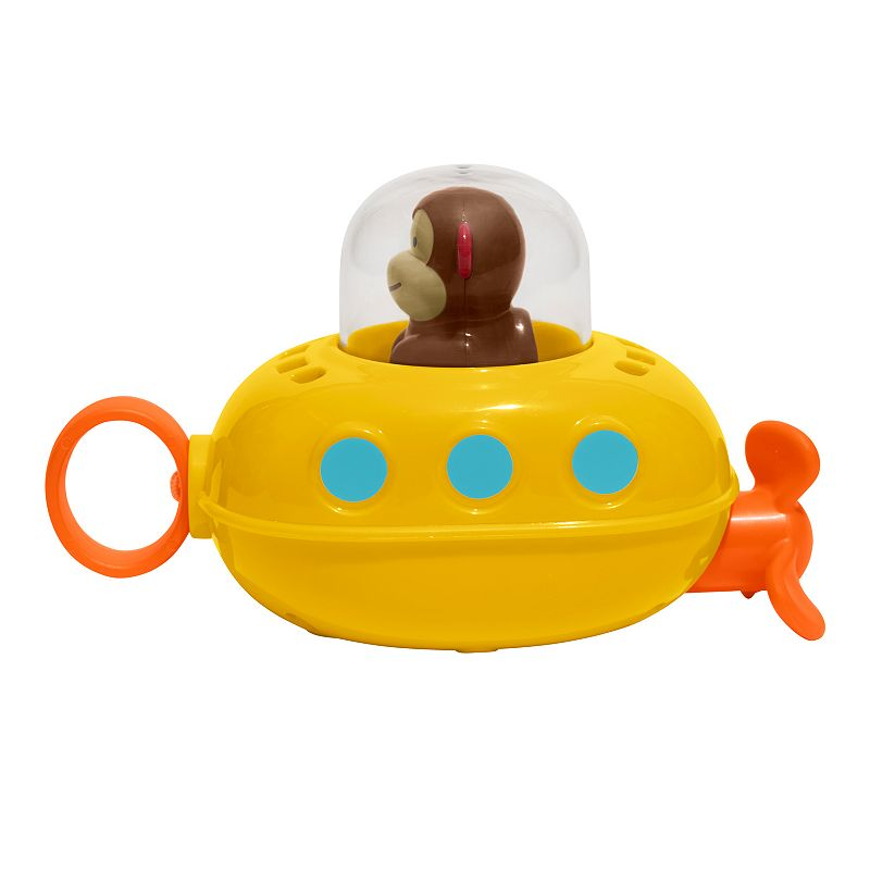 Skip Hop Zoo Pull & Go Monkey Submarine Bath Toy
