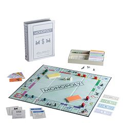 Monopoly Game Linen Vintage Bookshelf Edition by Winning Solutions by
