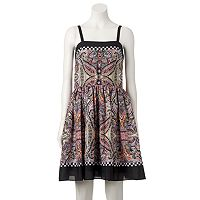 Women's M by Maia Paisley Fit & Flare Dress