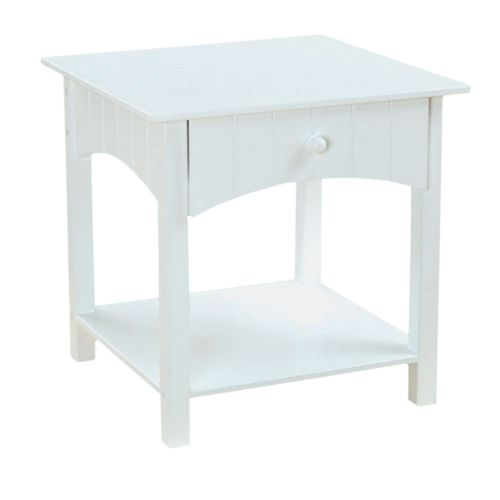 KidKraft Nantucket Toddler Side Table - White