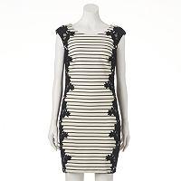 Women's Jax Striped Lace Sheath Dress