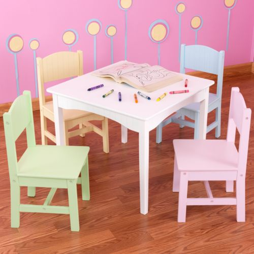 KidKraft Nantucket Table and Chair Set - White