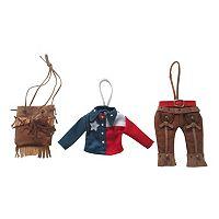 St. Nicholas Square® Texas Apparel Christmas Ornament 3-piece Set
