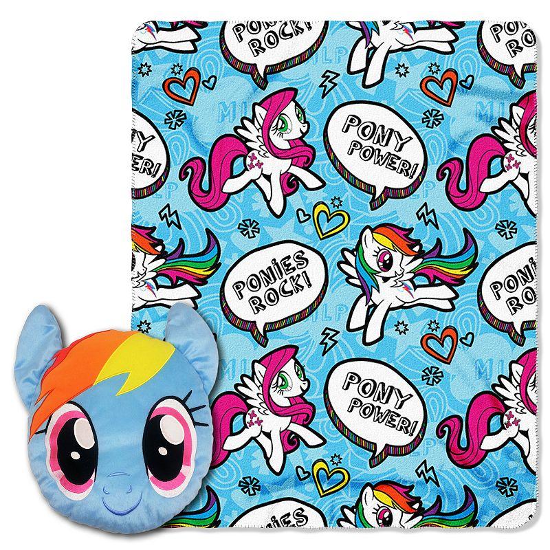 My Little Pony Rainbow Rocks Pillow & Throw Set