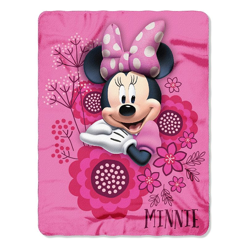 Disney Minnie Mouse Bowtique So Many Bows Fleece Throw