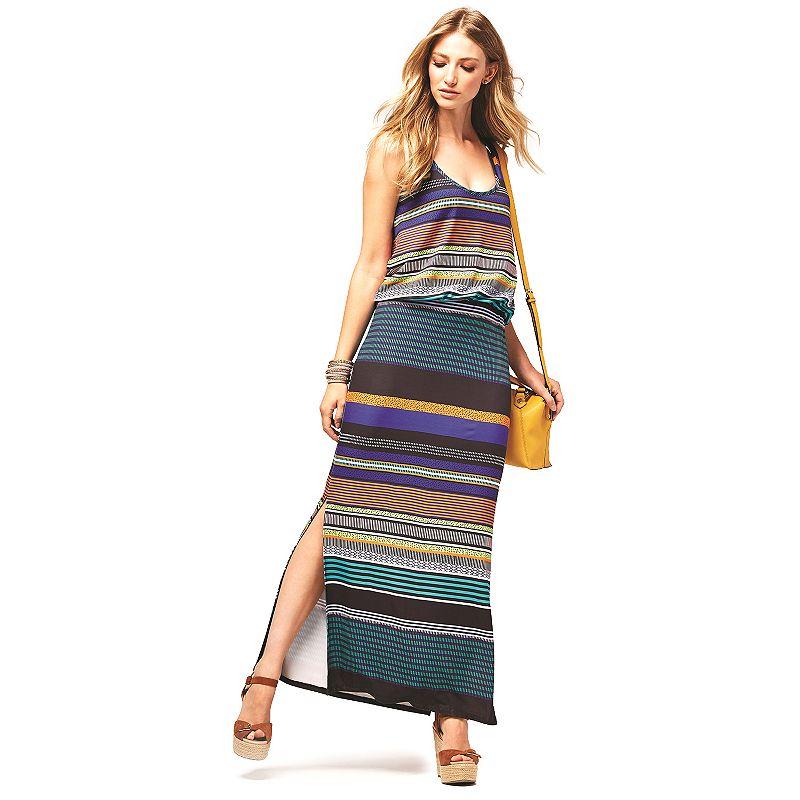 Women's Haggar Striped Blouson Maxi Dress