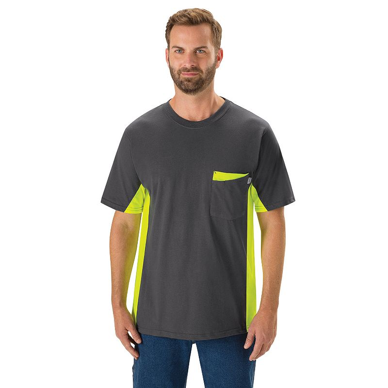 Men's Red Kap Colorblock Visibility Workwear Tee