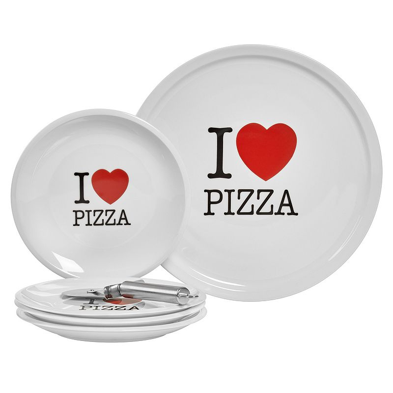 Gallery I Love Pizza 6-pc. Serving Set