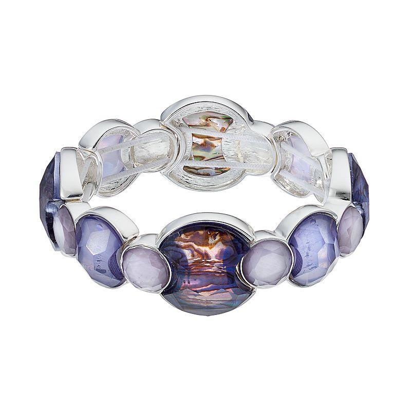 Dana Buchman Simulated Abalone Faceted Stretch Bracelet