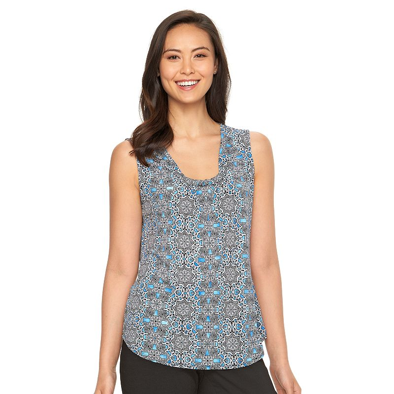 Women's Dana Buchman Gathered Scoopneck Knit Top