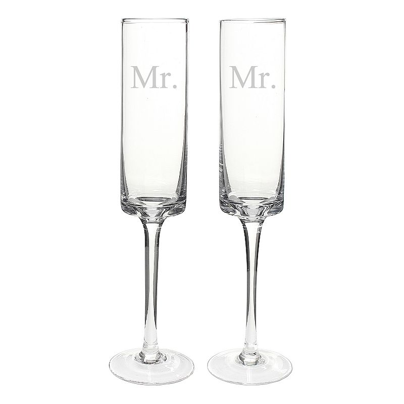 Cathy's Concepts Couples 2-pc. Contemporary Champagne Flute Set