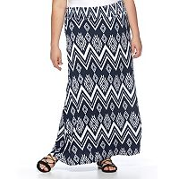 Plus Size French Laundry Printed Maxi Skirt