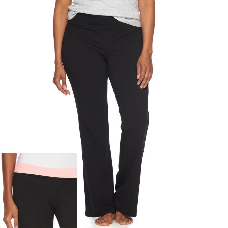 Juniors' Plus Size SO® Lounge Contour Bootcut Yoga Pants, Size: 2XL, Brt Pink