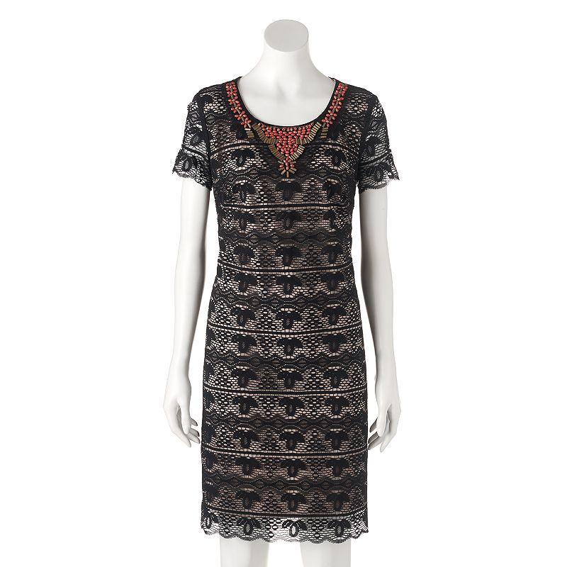 Women's Chaya Beaded Lace Shift Dress