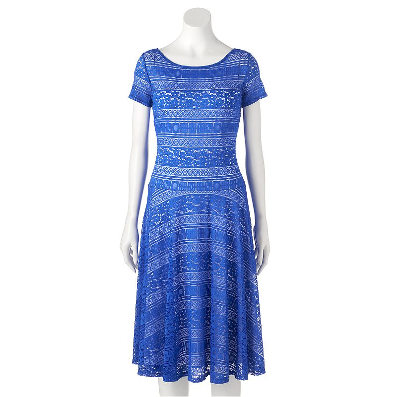 Women's Chaya Illusion Lace A-Line Dress