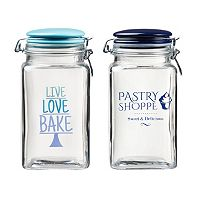 Global Amici Pastry Shoppe 2-pc. Hermetic Glass Storage Jar Set