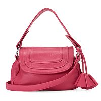 Donna Bella Convenience Leather Convertible Hobo