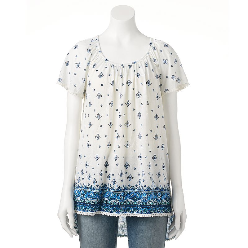 Women's French Laundry Printed Peasant Top
