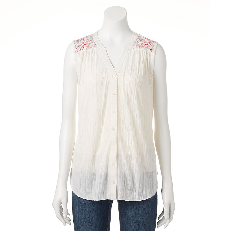 Women's French Laundry Embroidered Top