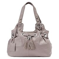 Donna Bella Zara Leather Tassel Satchel