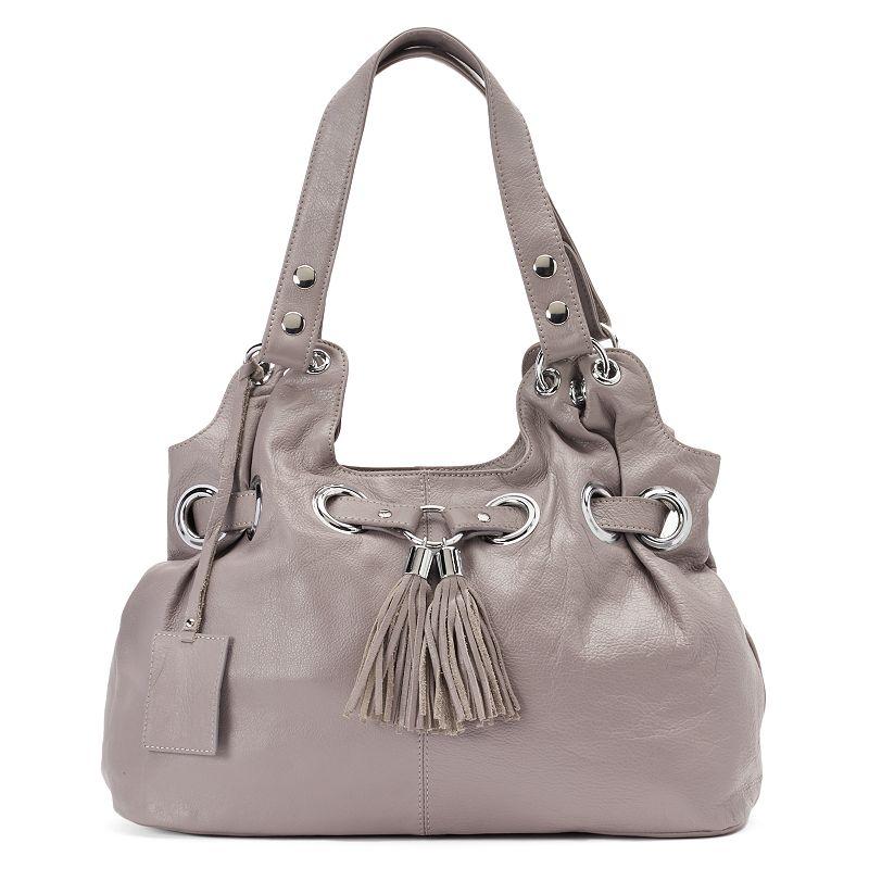Donna Bella Zara Leather Tassel Satchel