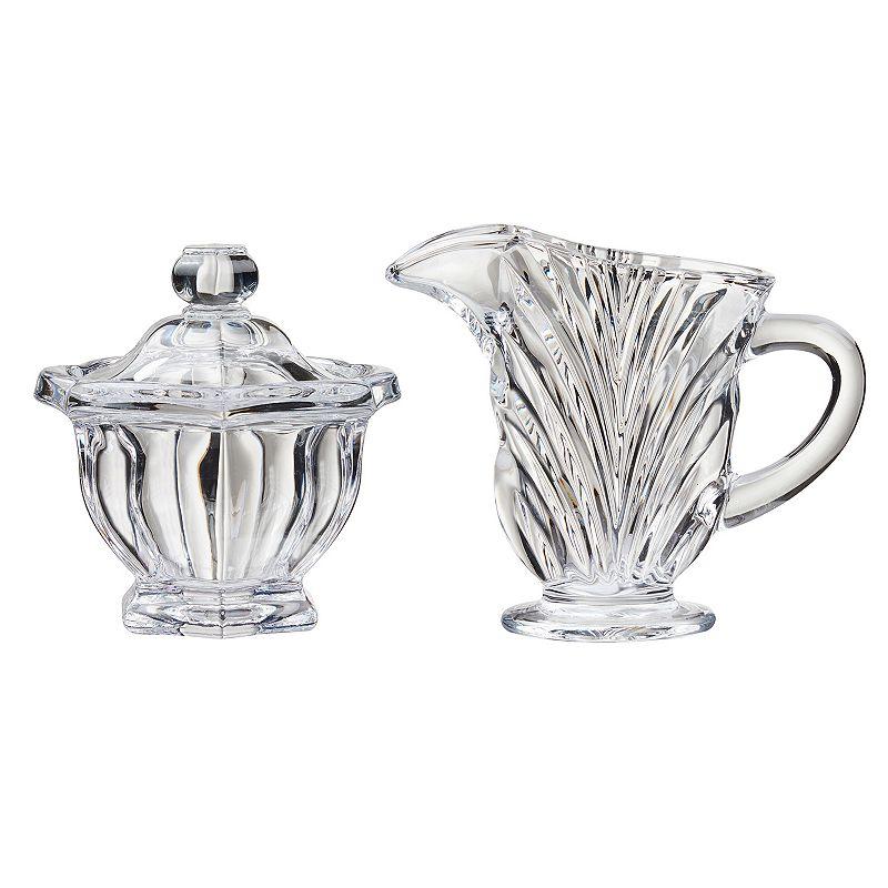 Global Amici Rennes Glass Sugar Bowl & Creamer Set